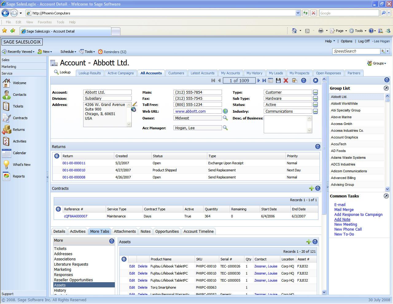 Infor Crm Sage Crm Solution Web Based Amp Lan Customer